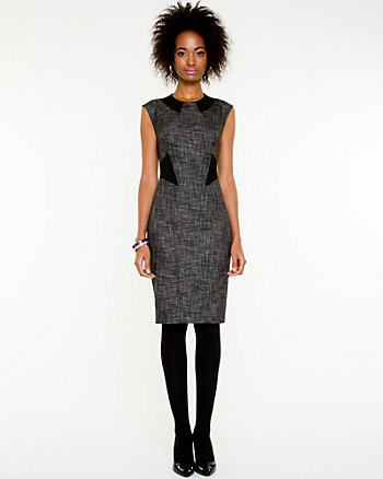 Cross Hatch Boat Neck Dress