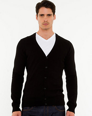 Cotton V-Neck Slim Fit Cardigan