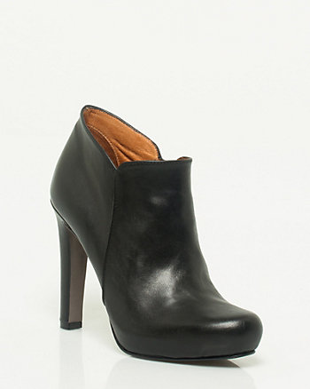Leather Almond Toe Shootie