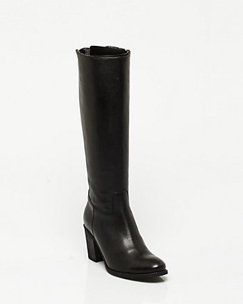 Leather Knee High Boot