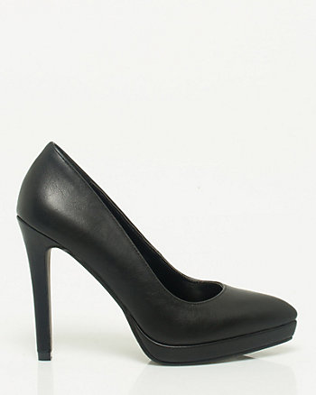 Leather-like Platform Pump