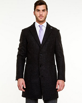 Shawl Collar Wool Blend Jacket