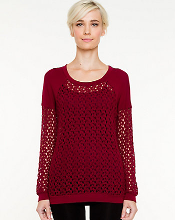 Crochet Raglan Sweater