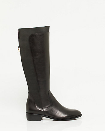 Leather Knee-High Boot