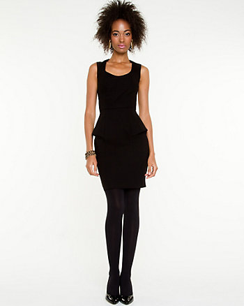 Peplum Cut-Out Back Dress