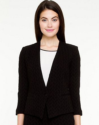 Puckered Knit Blazer