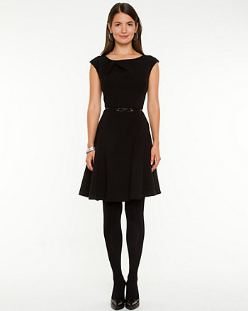 Double Weave Fit & Flare Dress