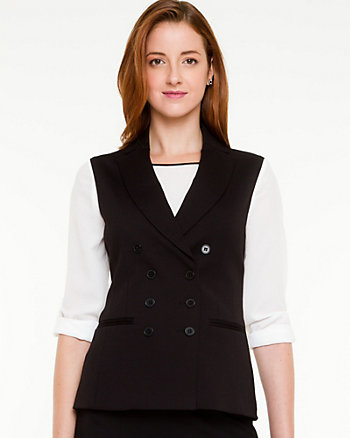 Ponte Double Breasted Vest