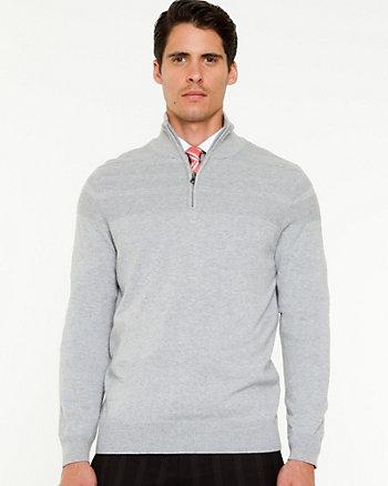 Cotton Mock Neck Sweater