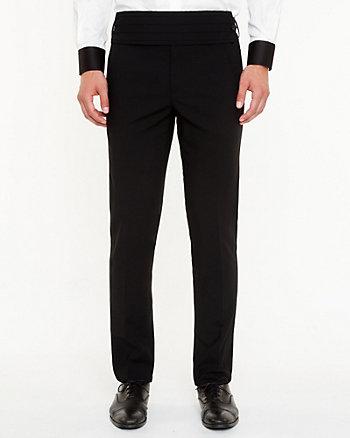 Tropical Wool Blend Straight Leg Pant
