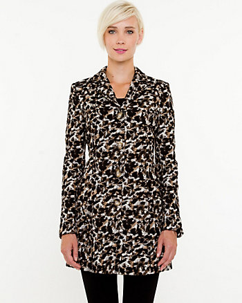 Leopard Print Reefer Coat