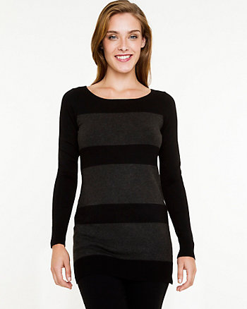 Stripe Boat Neck Sweater