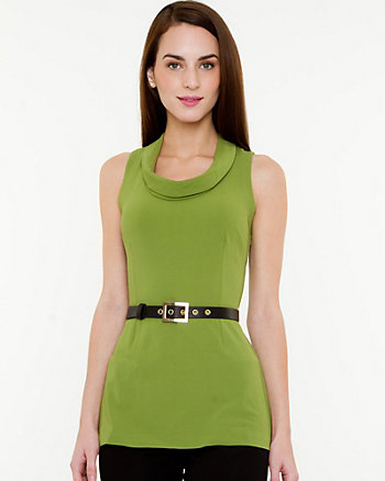 Cowl Neck Sleeveless Knit Top