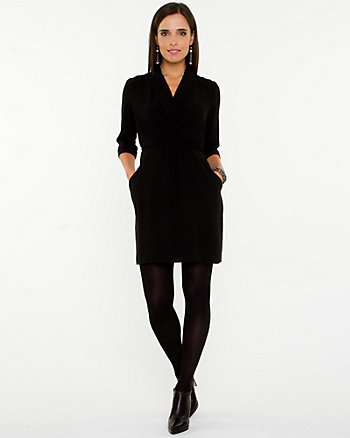Crêpe de Chine Wrap Dress