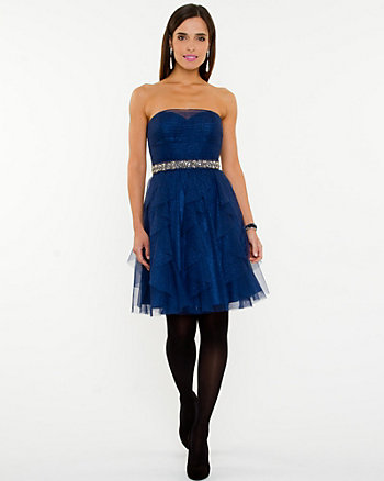 Sparkle Mesh Party Dress