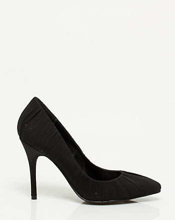 Chiffon & Satin Pointy Toe Pump