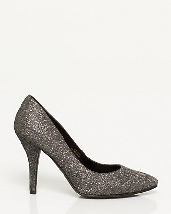 Glitter Pointy Toe Pump