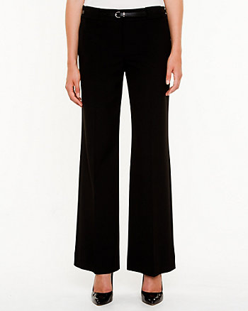 Stretch Woven Flare Leg Trouser