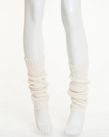 Sequin Rib Knit Legwarmer