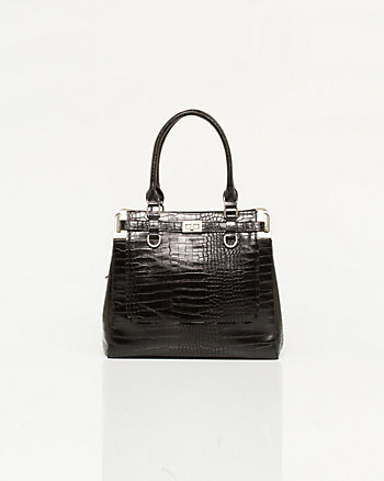 Leather-like Croco Tote