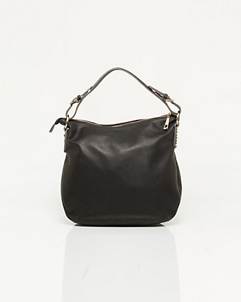 Leather-like Slouchy Hobo Bag