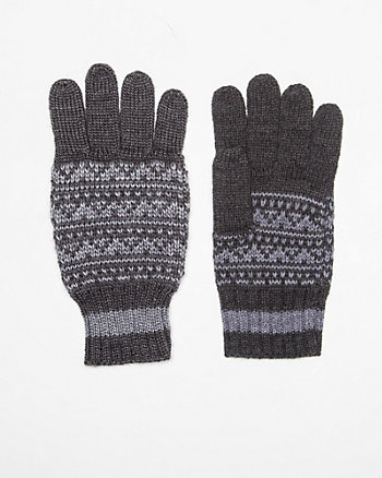 Wool Blend Fair Isle Glove