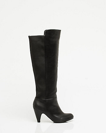 Leather-like Knee High Boot