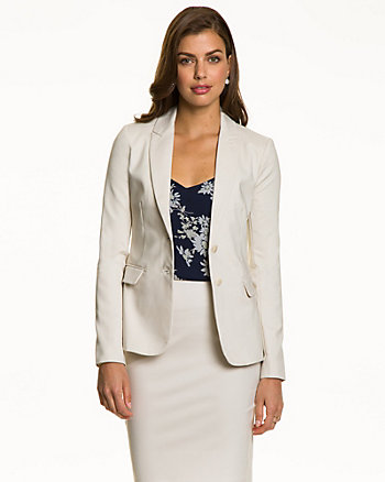 Double Weave Fitted Blazer