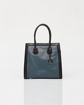 Leather-like Geo Print Tote