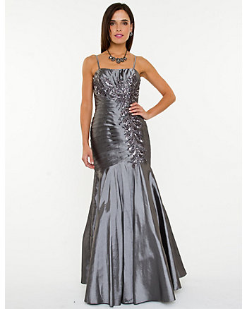 Taffeta Sleeveless Gown