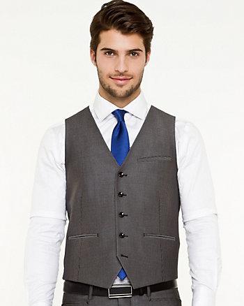 Shiny Piqué Contemporary Fit Vest