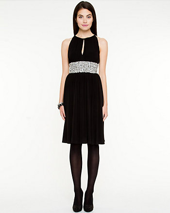Jewel Encrusted Halter Dress