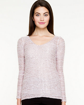 Open Stitch V-neck Sweater