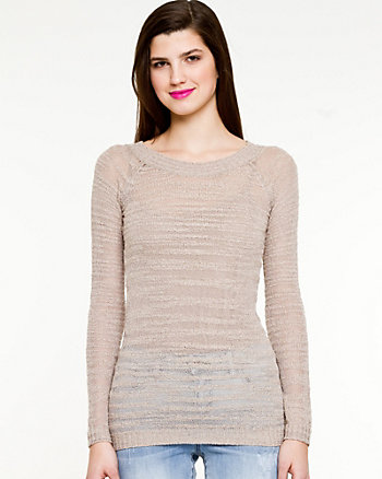 Textured Scoop Neck Sweater