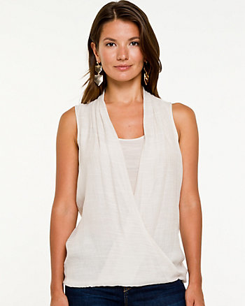 Gauze Sleeveless Blouse