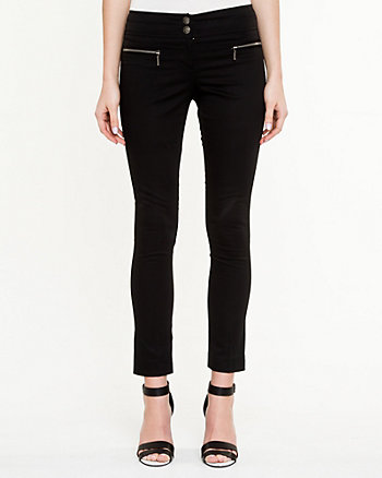 Stretch Cotton Sateen Skinny Pant