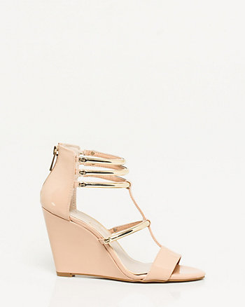 Patent Leather Open Toe Wedge