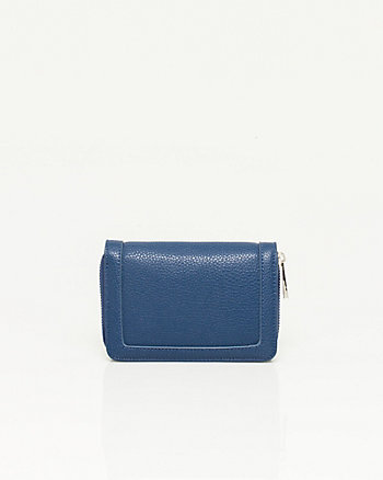 Pebbled Leather-like Wallet