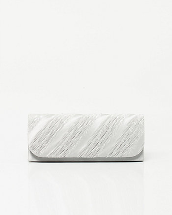 Pleated Foldover Clutch