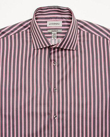 Stripe Sateen Tailored Fit Shirt