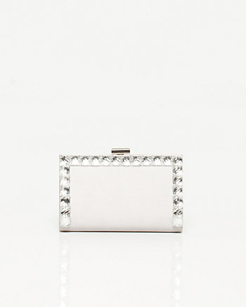 Satin Jewel Frame Clutch