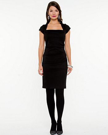 Matte Jersey Fitted Dress
