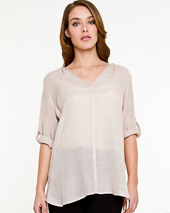 Ghost Gauze V-neck Blouse