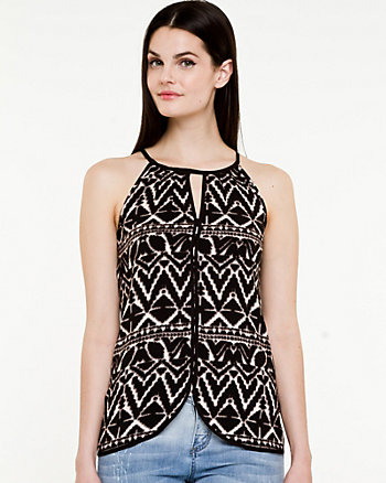 Tribal Print Halter Top