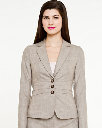 Crosshatch Fitted Blazer