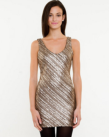 Sequin V-neck Tank
