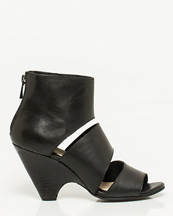 Leather-like Cut-out Shoe