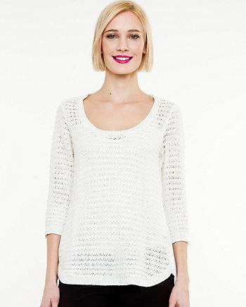 Metallic Scoop Neck Sweater