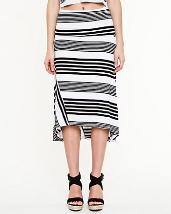 Jersey Stripe Maxi Skirt