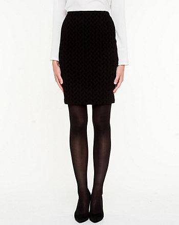 Puckered Knit Mini Skirt